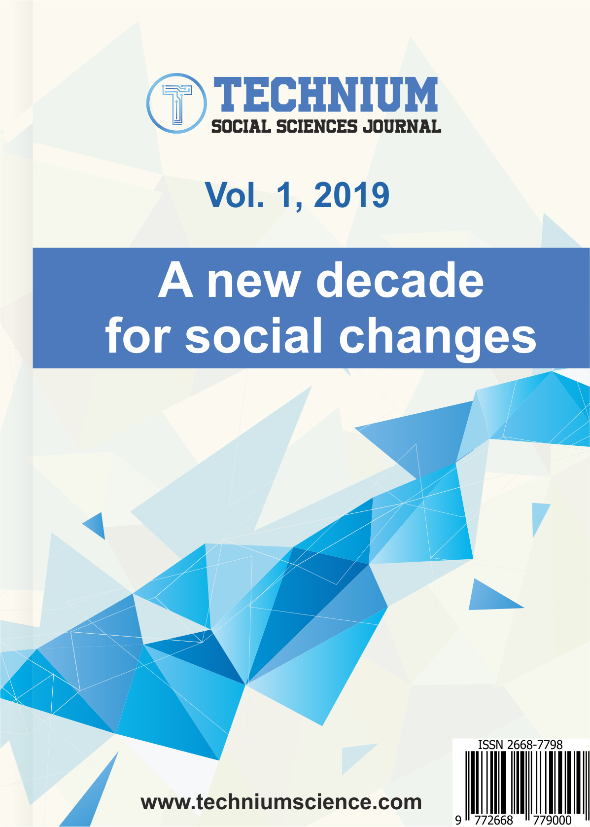 View Vol. 1 (2019): 2020 - A new decade for social changes
