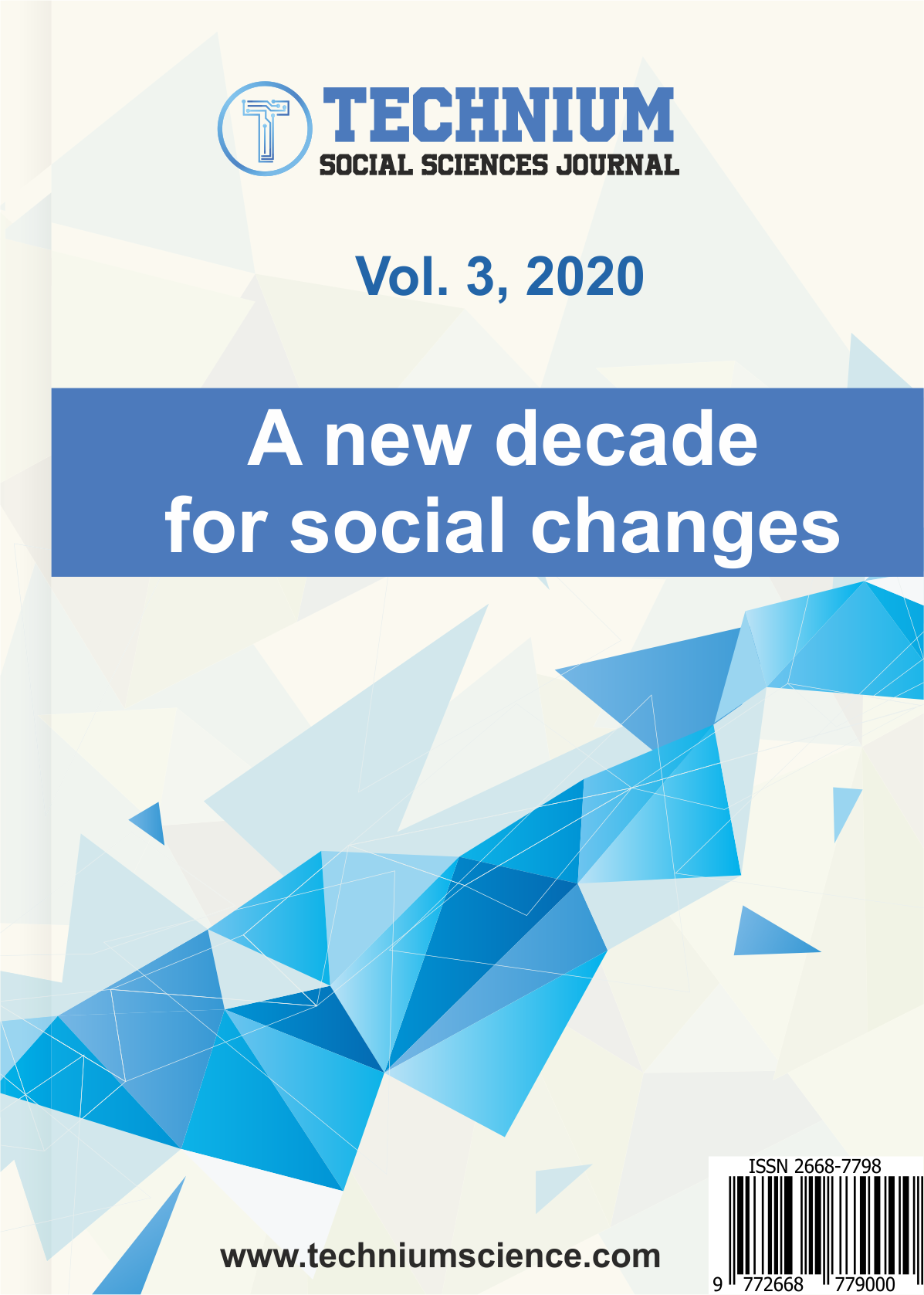 View Vol. 3 No. 1 (2020): A new decade for social changes