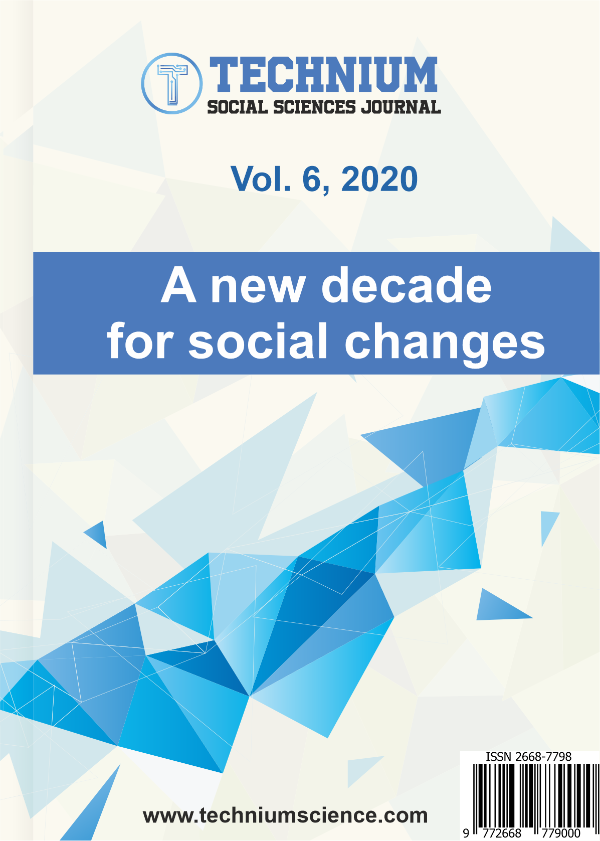 View Vol. 6 (2020): A new decade for social changes